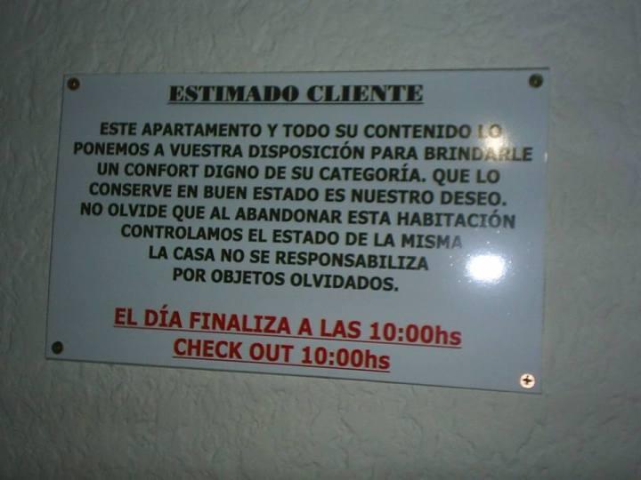 PLACA HORÁRIO HOTEL MVD